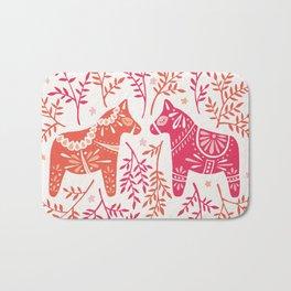 Swedish Dala Horses – Melon Palette Bath Mat