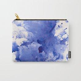 Blue Splotch Carry-All Pouch