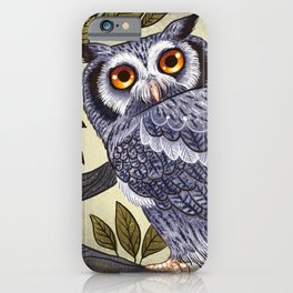 White Faced Owl iPhone Case