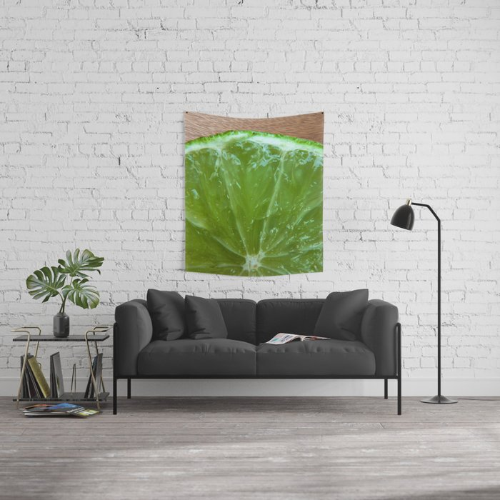 Lime Green and Fresh Wall Tapestry