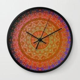 Mandala Glitch Solar Wall Clock