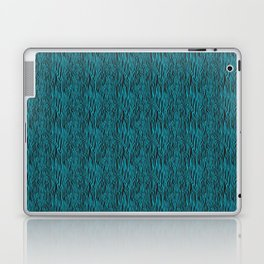 Zebra Blue Black Laptop & iPad Skin
