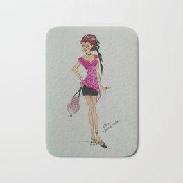 pink chiffon blouse, pink chiffon, pink blouse, fashion illustration, cute fashion, fashionable, Bath Mat
