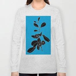 Goat's Foot (also known as Mauve Convolvulus, Beach Potato Vine, and Morning Gl - Ipomoea pes-caprae Long Sleeve T-shirt