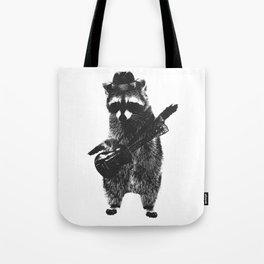 Raccoon wielding ukulele Tote Bag