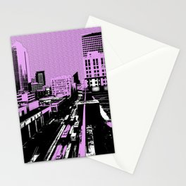 The city shall be pink today! Stationery Cards