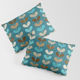 Mid Century Modern Coffee Kettle Kitchen Wall Decor // Caribbean Blue, Turquoise, Brown, Khaki, Tan Pillow Sham