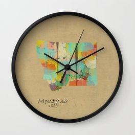 Montana state map  Wall Clock
