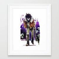 nico di angelo Framed Art Prints featuring Nico Di Angelo by Archiri Usagi