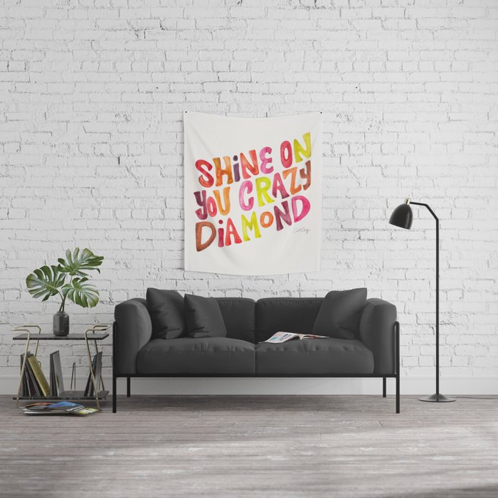 Shine On You Crazy Diamond – Rainbow Palette Wall Tapestry