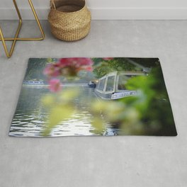 The Flowering look at a boat on the Little Venice canals in London | Color Photography | Travel Photography | Photo Print | Art Print Rug
