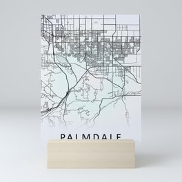 Palmdale CA USA White City Map Mini Art Print