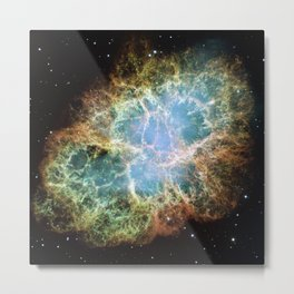 Crab Nebula Space Decor Metal Print