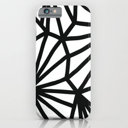Modern Black and White geometric pattern #abstractart #decor iPhone Case