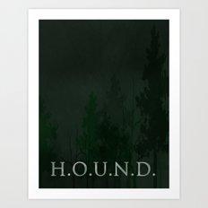 No. 5. H.O.U.N.D. Art Print