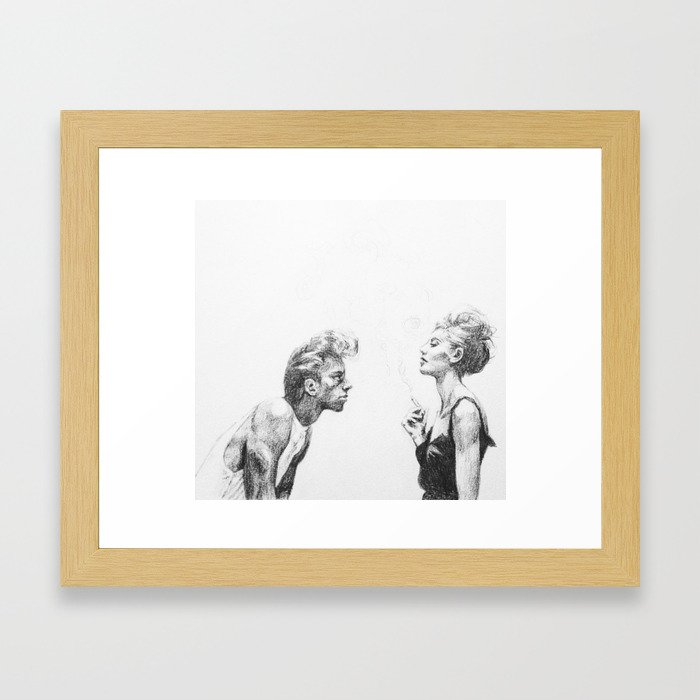 The Beggar and the Queen Framed Art Print