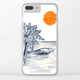 Orange touch Clear iPhone Case