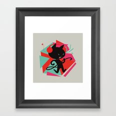 Air Cat Framed Art Print
