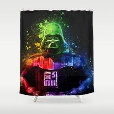 Darth Vader Splash Painting Shower Curtain