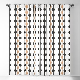 Droplets Pattern - Caramel & Black Coffee Blackout Curtain