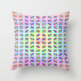 Colorful funny ... Throw Pillow