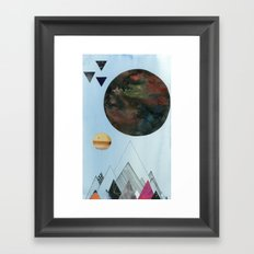 Moons and Mountains Framed Art Print