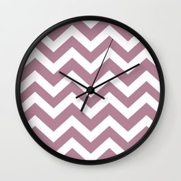 English lavender - violet color - Zigzag Chevron Pattern Wall Clock