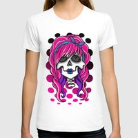 rockabilly T-shirts featuring 'Rockabilly skull' by NeonStarr