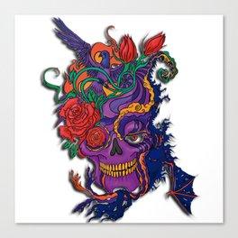 Violet carve Canvas Print