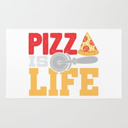 Pizza Is Life Italy Italian Food Foodie Gift Rug