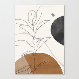 Abstract Art /Minimal Plant Canvas Print
