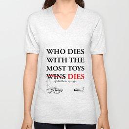 Who Dies Dies Unisex V-Neck