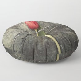 Tulip and barbed wire Floor Pillow