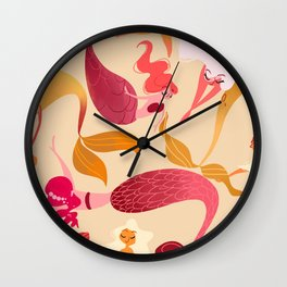 Mermaids Wall Clock