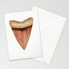Copper Shark Tooth Watercolor by Liz Ligeti Kepler Stationery Cards