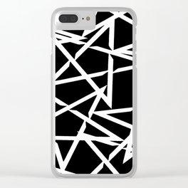 Interlocking White Star Polygon Shape Design Clear iPhone Case