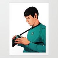 spock Art Prints featuring Spock by Whitney Salgado