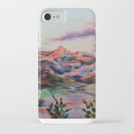 Tucson Sunset by the Catalina foot hills - Thimble peak iPhone Case