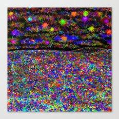 Rainbow Iridescent Stained Glass Prism Kaleidoscope Potpourri Confetti Piñata Fireworks Canvas Print