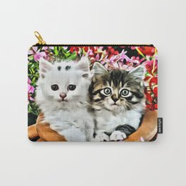 TWO CUDDLY KITTENS Carry-All Pouch