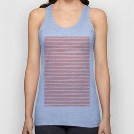 Rose Pink Stripes Pattern Unisex Tank Top