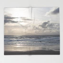 Silver Scene Throw Blanket