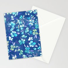 Grown Up Betty - blue watercolor floral Stationery Cards