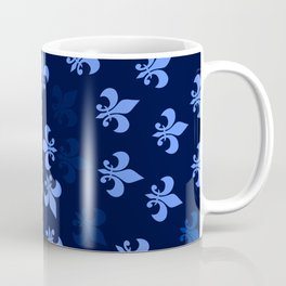 Blue Fleur-Di-Lis Coffee Mug