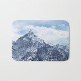 Snowy Mountain Peaks Bath Mat