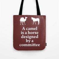 camel Tote Bags featuring Camel by cocksoupart