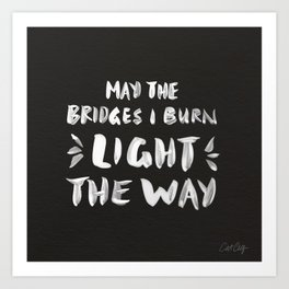 Burned Bridges – Black & White Art Print