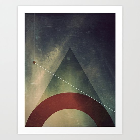 triangle half circle Art Print
