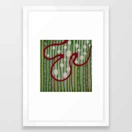 Untitled, white dots Framed Art Print