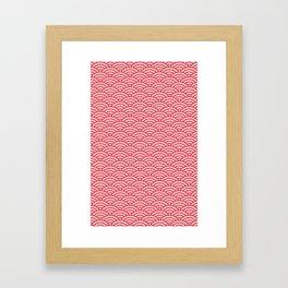 Japanese Sakura Koinobori Fish Scale Pattern Framed Art Print